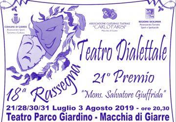 Giarre, tutto pronto a Macchia per la 18esima edizione della rassegna teatrale
