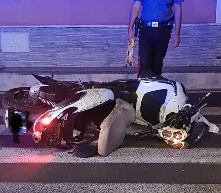 Giarre, incidente in via Luminaria. Ferito uno scooterista