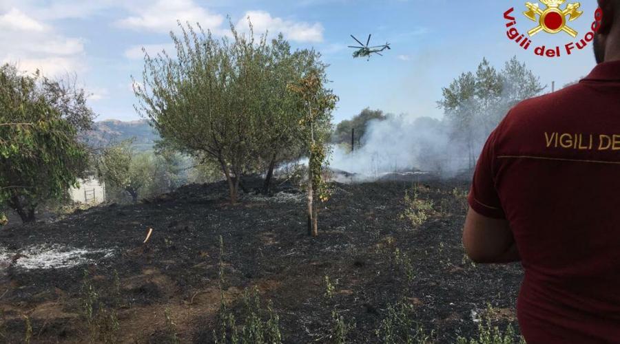 Castiglione, vasto incendio a quota mille