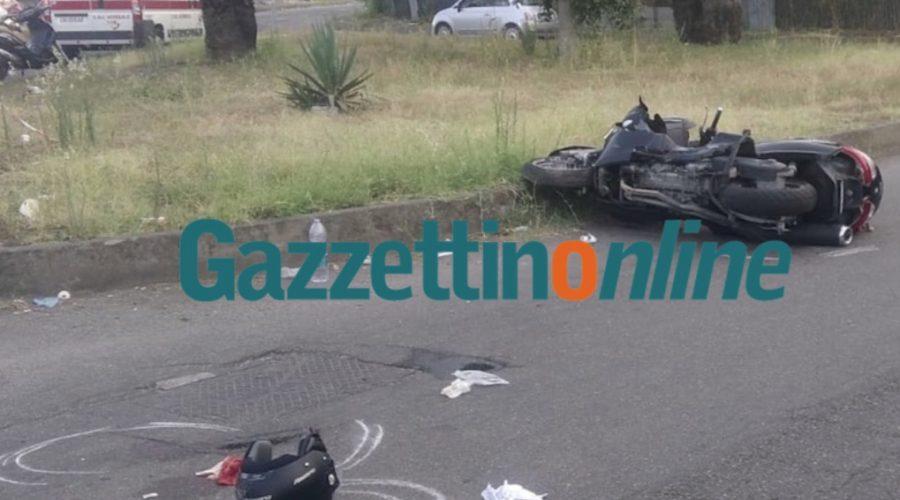 Mascali, grave incidente stradale in via Amato. Scontro auto moto: interviene elisoccorso