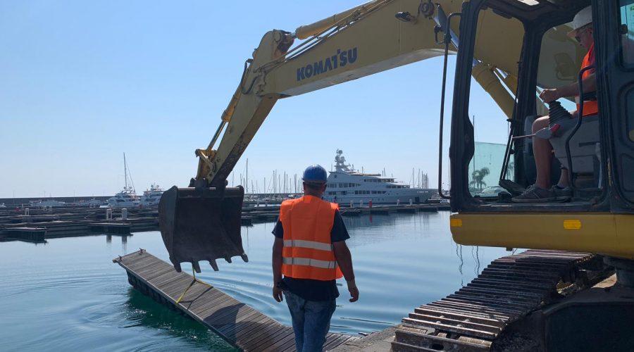 Riposto: alla presenza di Musumeci e Falcone avviati i lavori al primo bacino del porto VIDEO