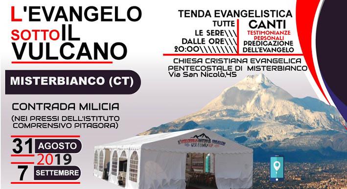 Misterbianco, da sabato 31 agosto settimana di tenda evangelistica