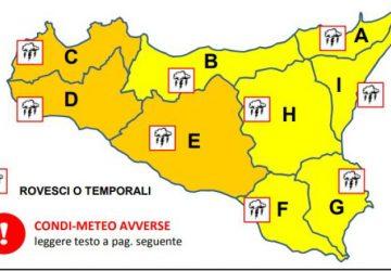Allerta meteo in Sicilia, alto rischio idrogeologico