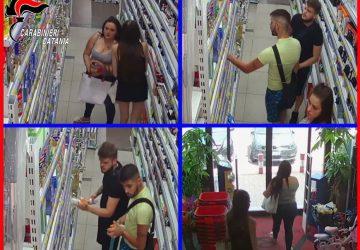 """Catania, ripulivano gli scaffali """"dimenticando"""" di pagare il conto: beccati FOTO VIDEO"""