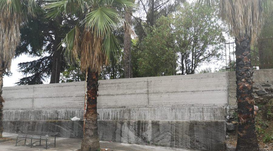 Parco di San Giovanni Montebello, ultimati i lavori nel muro di cinta