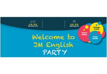 Welcome to JM English PARTY - Open Day in tutte le sedi per scoprire il metodo JM English