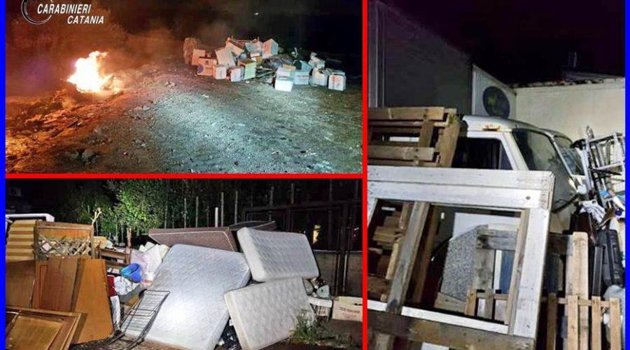 Biancavilla, aveva trasformato il proprio terreno in una discarica abusiva: sorpreso a dar fuoco a parte dei rifiuti