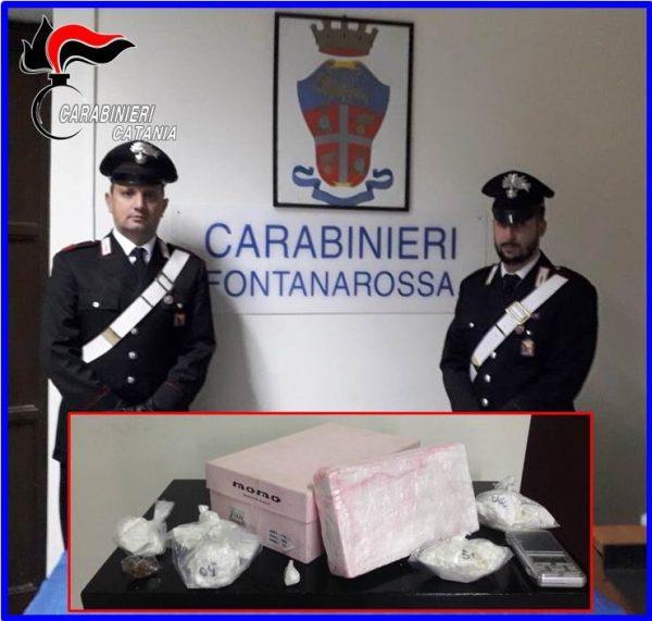 Blitz antidroga a Catania: sequestrati 1,5 Kg di cocaina. Conviventi in manette