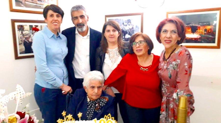 Francavilla di Sicilia festeggia il centesimo compleanno di Vincenza Abate