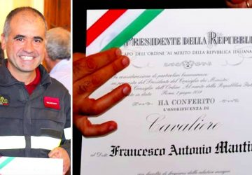 A Mojo Alcantara un Cavaliere della Repubblica Italiana: Francesco Mantineo