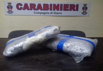 Giarre, colpo grosso dei carabinieri. Sequestrati 4 chili di marijuana: due arresti