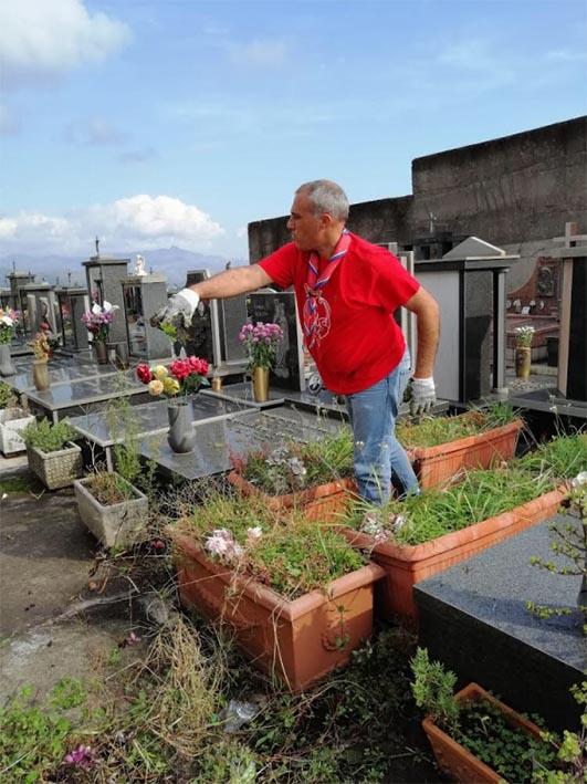 Mascali, interventi di pulizia straordinaria nei due cimiteri