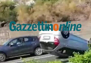 Tangenziale, incidente nei pressi dello svincolo per Misterbianco VIDEO