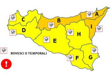 Maltempo area Ionica: preallarme arancione della Protezione civile per domani