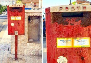 """Giardini Naxos: sul lungomare una """"orripilante"""" cassetta delle lettere"""