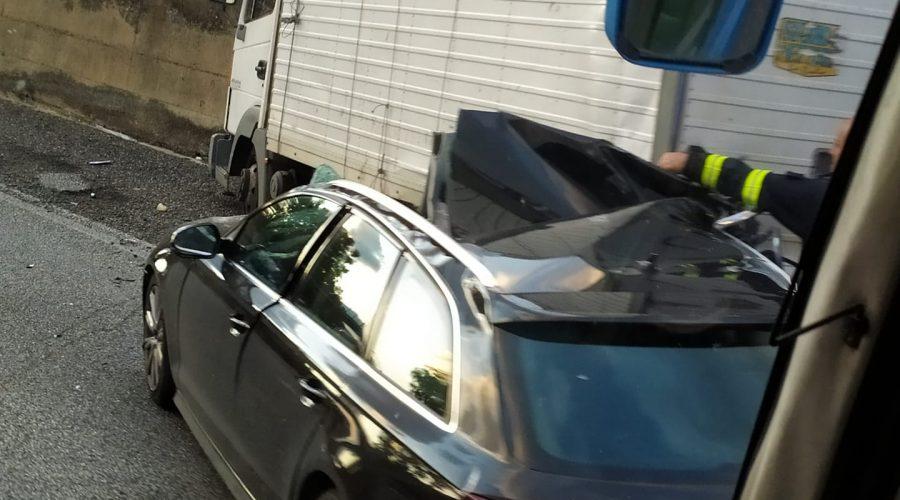 A18, nuova collisione tra Fiumefreddo e Giarre. Intervento dei Vigili del fuoco