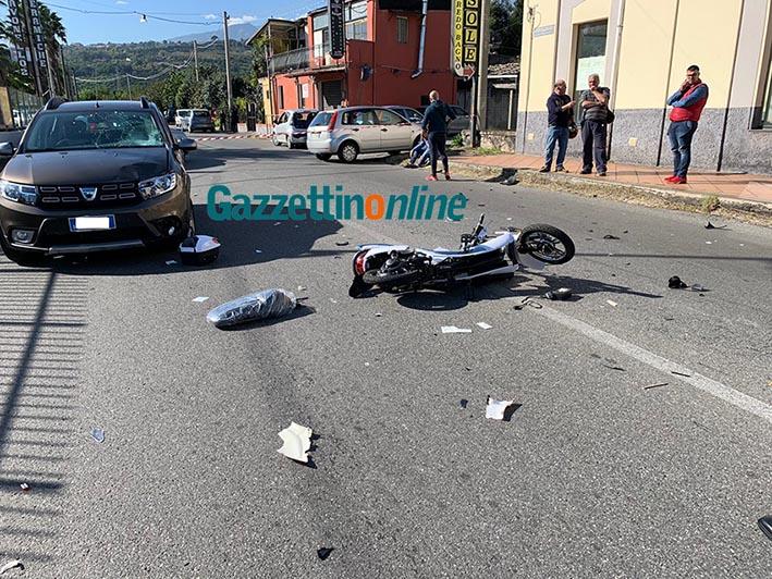 Incidente sulla statale 114 tra Giarre e Mascali: ferito scooterista VIDEO