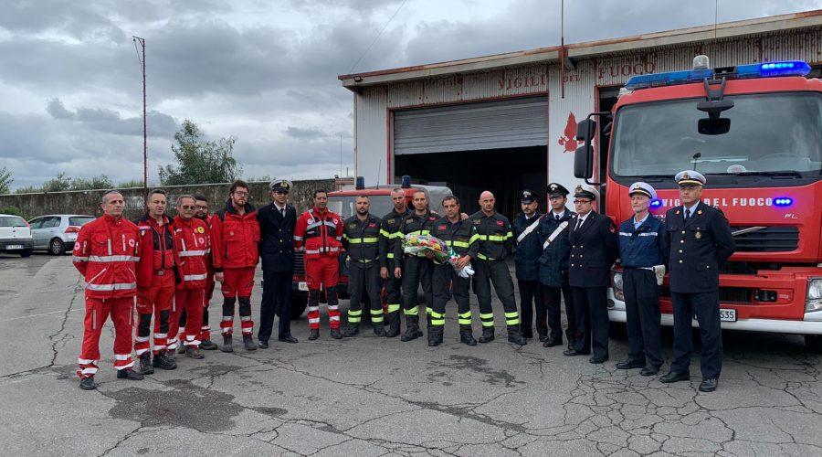 Riposto: omaggio ai tre vigili del fuoco morti a Quargnento VIDEO