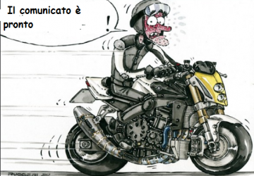 Per fare l'addetto stampa occorre la moto? Fortunatamente no