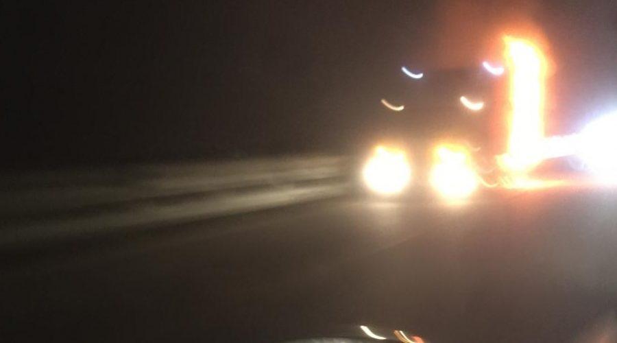 A19, camion prende fuoco in fase di marcia