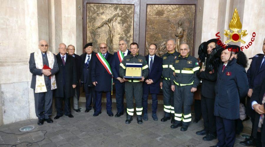 Giarre, al Duomo celebrazioni per i Vigili del fuoco
