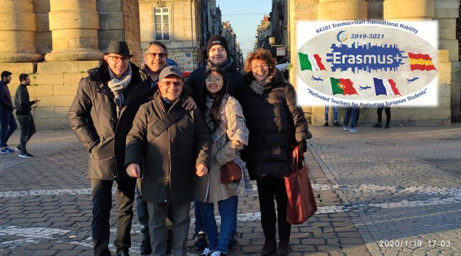 Quattro docenti dell'Alberghiero di Giarre, beneficiari di borse di studio, partono per la Francia