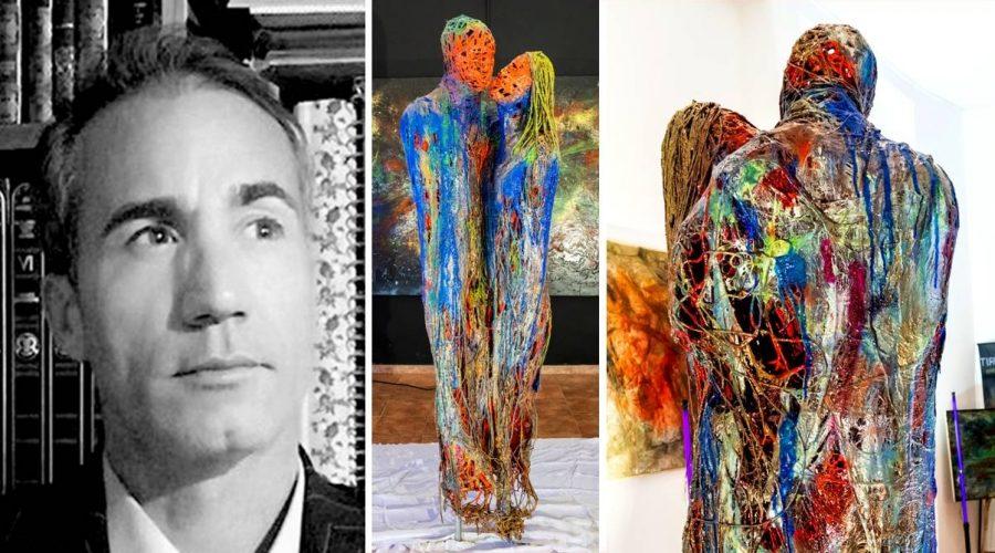 """Una scultura contro le solitudini del nostro tempo: """"Il Bacio"""" di Tony Nicotra"""