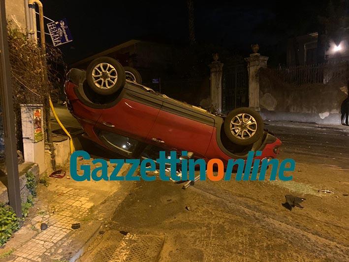 Giarre, drammatica collisione sul viale Sturzo nella notte VIDEO