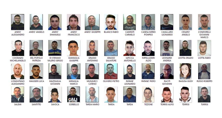 Blitz dei carabinieri nel Giarrese: 46 misure cautelari NOMI FOTO VIDEO
