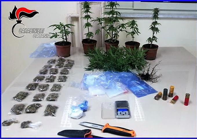 Operazione Jungo, in casa di due degli arrestati (in flagranza) droga e munizioni.