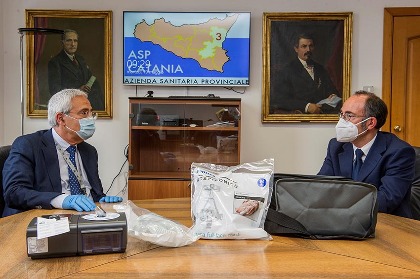 90 ventilatori polmonari donati da STMicroelettronics all'Asp di Catania