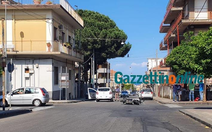 Riposto, scontro auto-scooter tra via Etna e via Roma