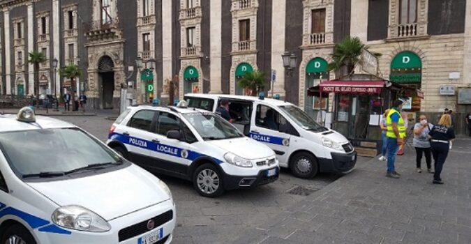 Catania, multe della polizia locale per mancato uso della mascherina