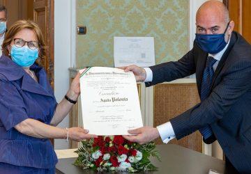 La dott.ssa Agata Polonia nominata Cavaliere OMRI