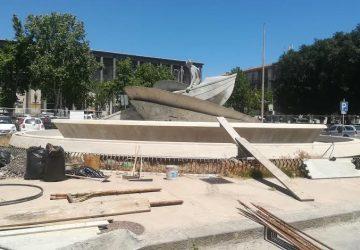 Catania, riqualificazione fontana di piazza Verga, sopralluogo del sindaco Pogliese