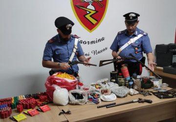 Giardini Naxos, deteneva illecitamente armi artigianali e munizioni: un arresto