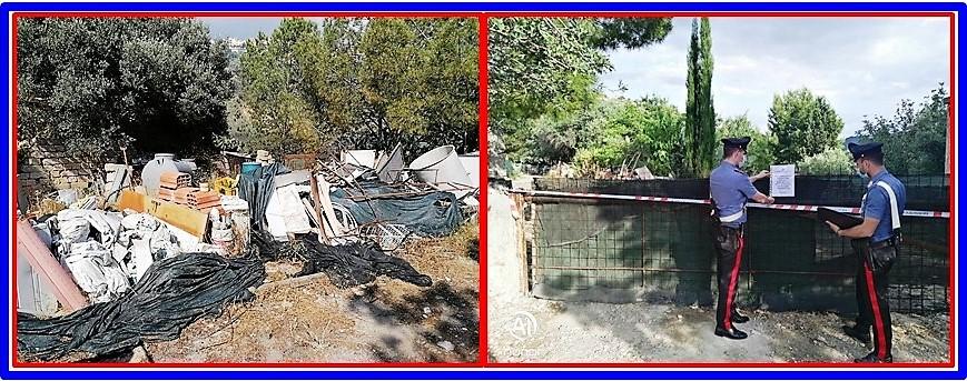 Mineo, Cc sequestrano bomba ecologica: denunciato il proprietario del fondo