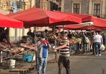 Catania, controlli Covid alla Fiera. Polizia locale in azione