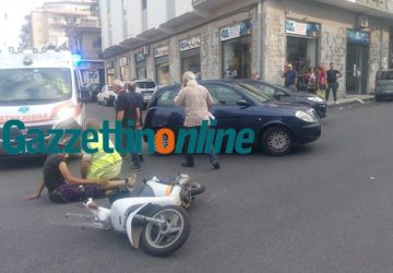 Giarre, scontro tra auto e scooter in corso Matteotti: due feriti
