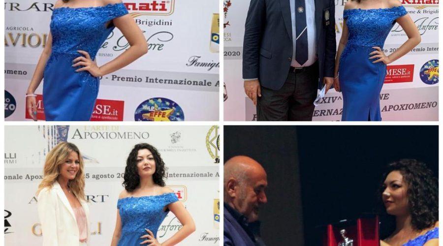 """""""Premio Internazionale Apoxiomeno 2020"""", madrina d'eccezione la giarrese Laura Sangrigoli"""