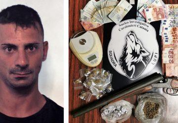 """Blitz dei """"Lupi"""" nel quartiere Nesima: sequestrate armi, droga e denaro. Un arresto"""