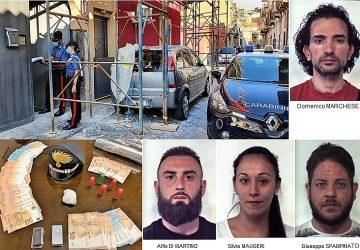 Catania, blitz antidroga a San Cristoforo: 4 arrestati. Sequestrati cocaina e 7.000 euro in contanti