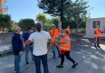 Riposto, al via i due cantieri regionali: sopralluogo del sindaco Caragliano e assessore Caltabiano