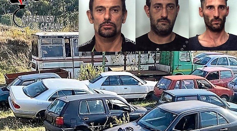 """Vizzini, intenti a razziare un deposito d'auto: in manette """"palo"""" e complici"""
