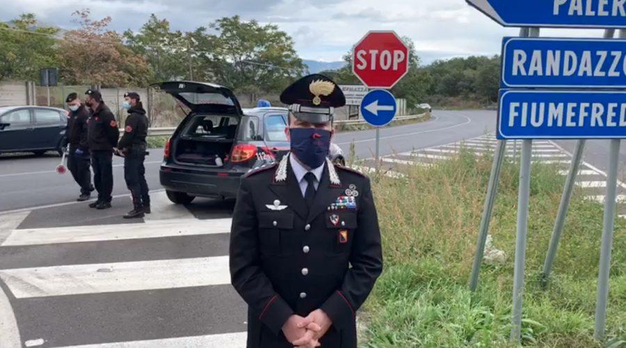 Randazzo blindata dai carabinieri la Zona Rossa. Video intervista al cap. Morandi VD