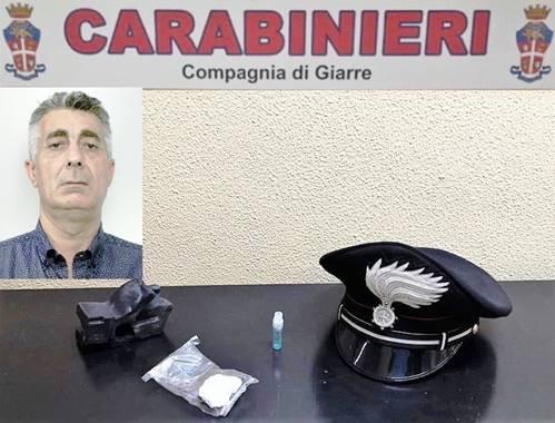 Giarre, beccato, di nuovo, con la cocaina in auto: arrestato