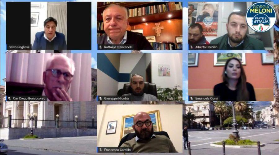 Giarre, successo per la prima conferenza online di Fdi con gli artigiani