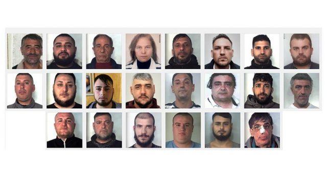 """Catania, """"operazione Concordia"""": 22 indagati. Il traffico di droga fruttava 10.000 euro al giorno NOMI FOTO VIDEO"""