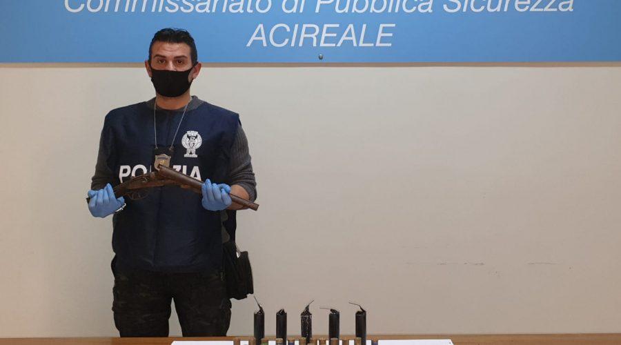 Acireale, fermato un 52enne per detenzione di arma alterata e munizioni