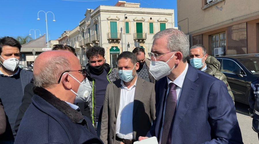 Mascali, visita operativa dell'assessore Falcone: interventi per il Duomo, Parallela e Caserma Cc